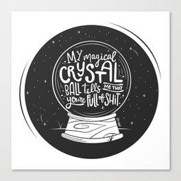Magical Crystal Ball Canvas Print