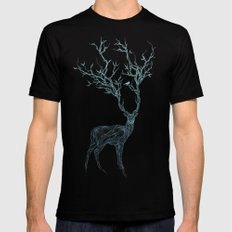 Blue Deer Black MEDIUM Mens Fitted Tee