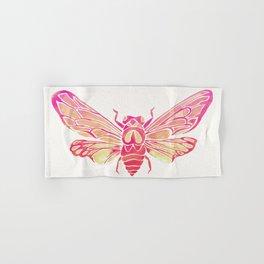 Summer Cicada – Pink Palette Hand & Bath Towel