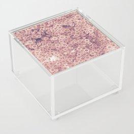 Pink flowers Acrylic Box