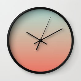 Ombre Living Coral with Turquoise Wall Clock
