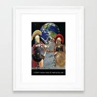 caleb troy Framed Art Prints featuring TROY by LIGGYZIGHAT