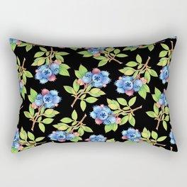 Wild Blueberry Sprigs Rectangular Pillow