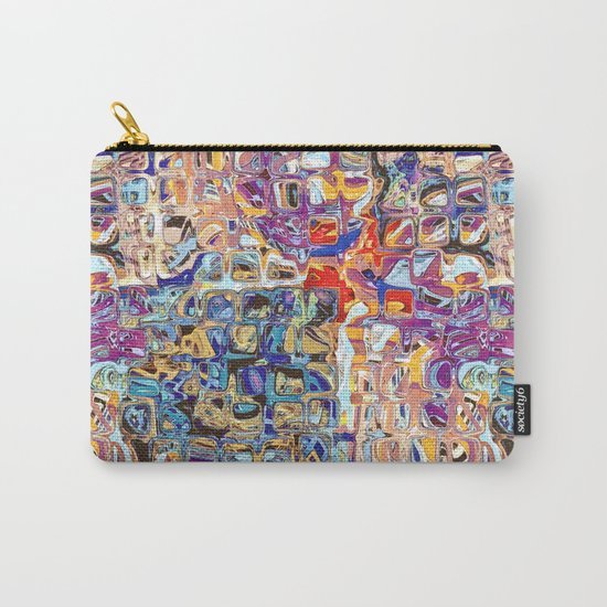 Abstract Glass Blocks Carry-All Pouch