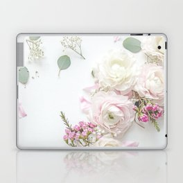 SPRING FLOWERS WHITE & PINK Laptop & iPad Skin