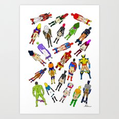 Butt of Superhero Villian - Light Art Print