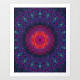 Lacy Mandala Art Print