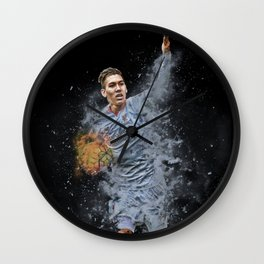 Liverpool FC: Roberto Firmino smoke design Wall Clock