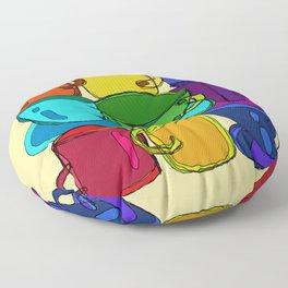 Tea Cups and Coffee Mugs Spectrum Floor Pillow