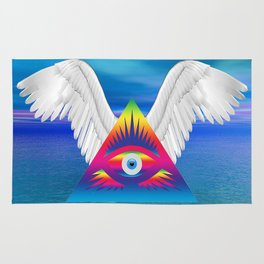 Third Eye with Wings Rug