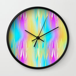LONG STEM FLORAL Design Pattern Wall Clock
