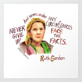 Ruth Gordon by dotsofpaint studios Art Print