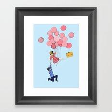 Men kom då! Framed Art Print