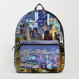 Hong Kong City Skyline Backpack