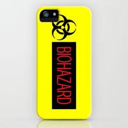 HAZMAT: Biohazard (Red, Black & Yellow) iPhone Case