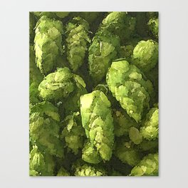 Fresh Cascade Hops Canvas Print