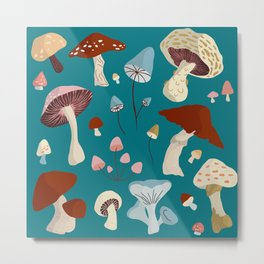 Mushrooms Collections Metal Print