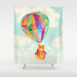 Shanti Sparrow: Theodora the Panda Shower Curtain