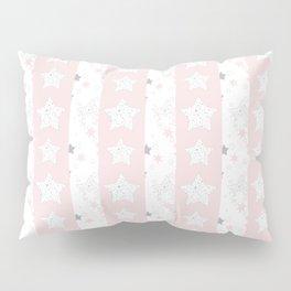 Stars Stripe, January Stars blush and gray Pillow Sham
