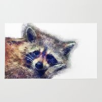 rocket raccoon Area & Throw Rugs featuring Raccoon  by jbjart