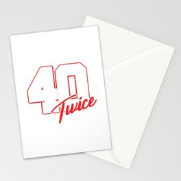 80th Birthday Celebration Gift I Turned 40 Twice Funny 1939 Party Birth Anniversary Stationery Cards