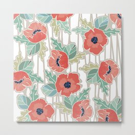 allover large floral Metal Print