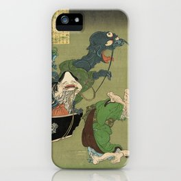 The Greedy Old Woman with a Box of Demons iPhone Case