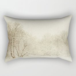 Snow Scene Rectangular Pillow