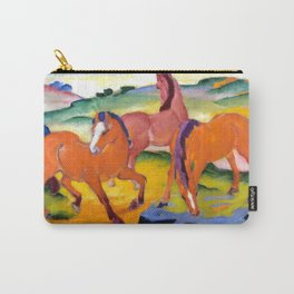 """Franz Marc """"Grazing Horses IV (The Red Horses)"""" Carry-All Pouch"""