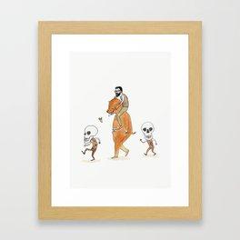 Bearded Man, Bearsuit, Skullguys Framed Art Print
