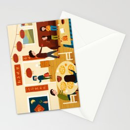 Family on Chinese New Year's Eve Stationery Cards