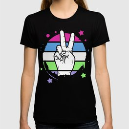 Hippy Peace hand Sign T-shirt