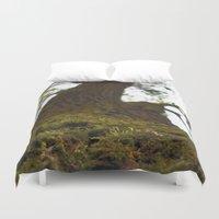 moss Duvet Covers featuring Moss by Kallian
