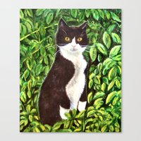 kitty Canvas Prints featuring Kitty by gretzky