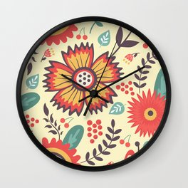 Floral explosion Wall Clock