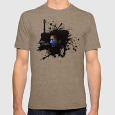 Blue Clapton Tri-Coffee Mens Fitted Tee LARGE