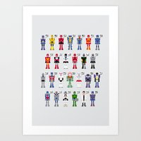 transformers Art Prints featuring Transformers Alphabet by PixelPower