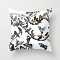 tits Throw Pillows featuring Tits of the World by Jada Fitch