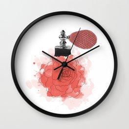 Red Rose Perfume Wall Clock