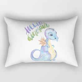 Hello Dinosaur Rectangular Pillow
