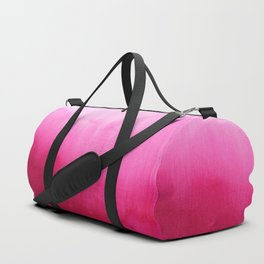 Modern fuchsia watercolor paint brushtrokes Duffle Bag