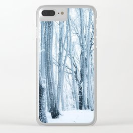 Frozen Forest Clear iPhone Case