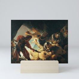Rembrandt - The Blinding of Samson (1636) Mini Art Print