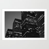 metropolis Art Prints featuring Metropolis by Mark Giarrusso