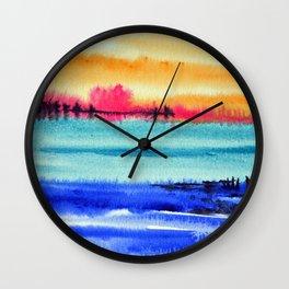 Sunset beauty Wall Clock