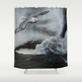 THE SINKING Shower Curtain