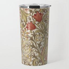 William Morris Vintage Golden Lily Biscuit Brick  Travel Mug