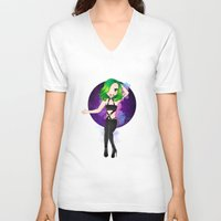 artrave V-neck T-shirts featuring artRAVE Aura by Aldo Monster