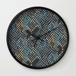 Snake Patterns Wall Clock