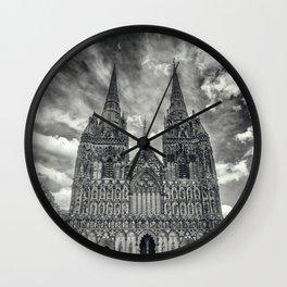 Lichfield Cathedral mono Wall Clock